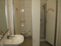 WCs, Dusche, Waschraum